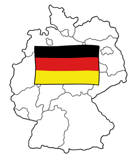 Leichte Sprache -  Deutschland Karte