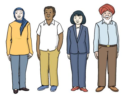 Leichte Sprache - Menschen mit unterschiedlicher Hautfarbe