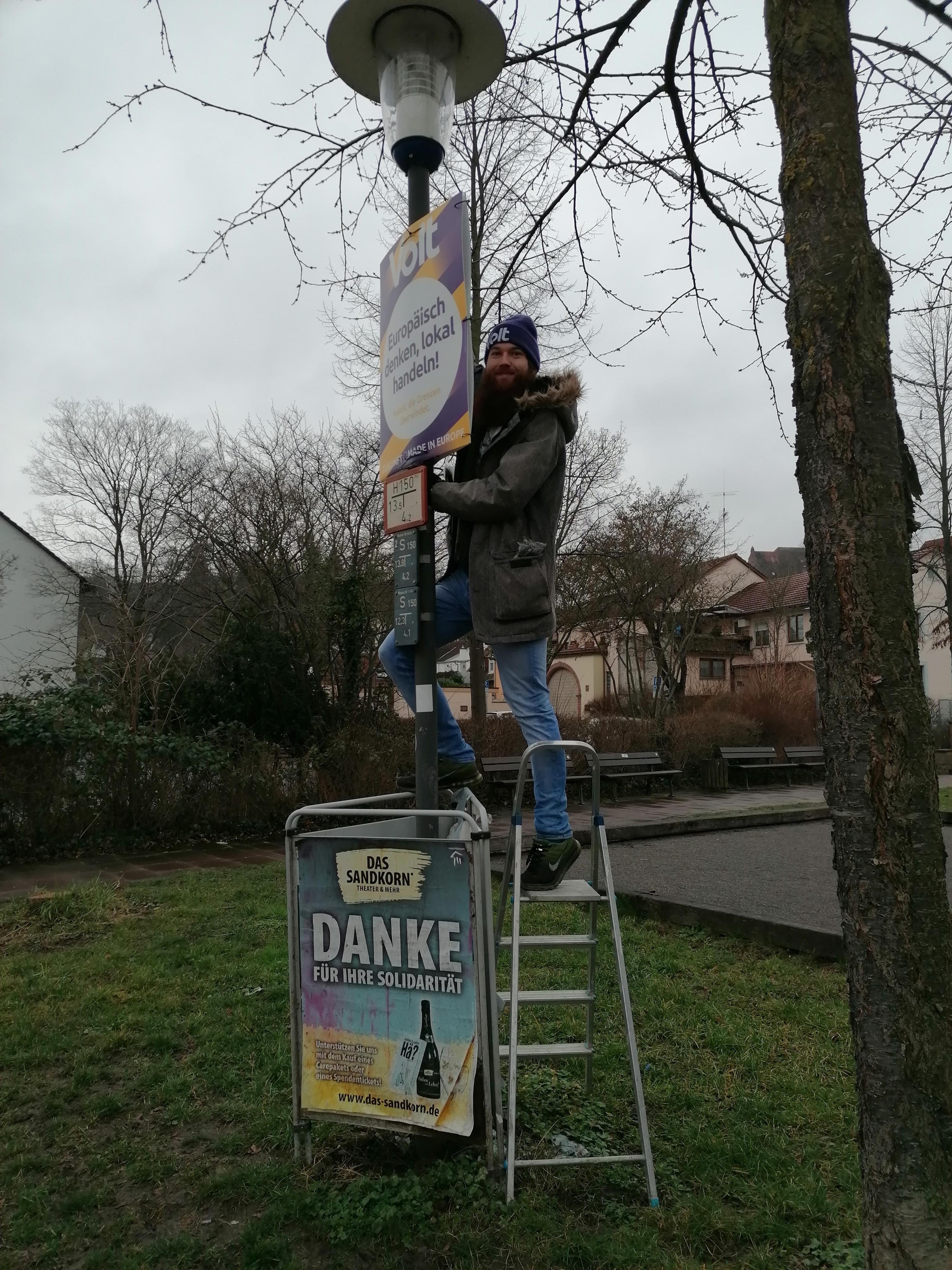 Plakatieren in Karlsruhe 2