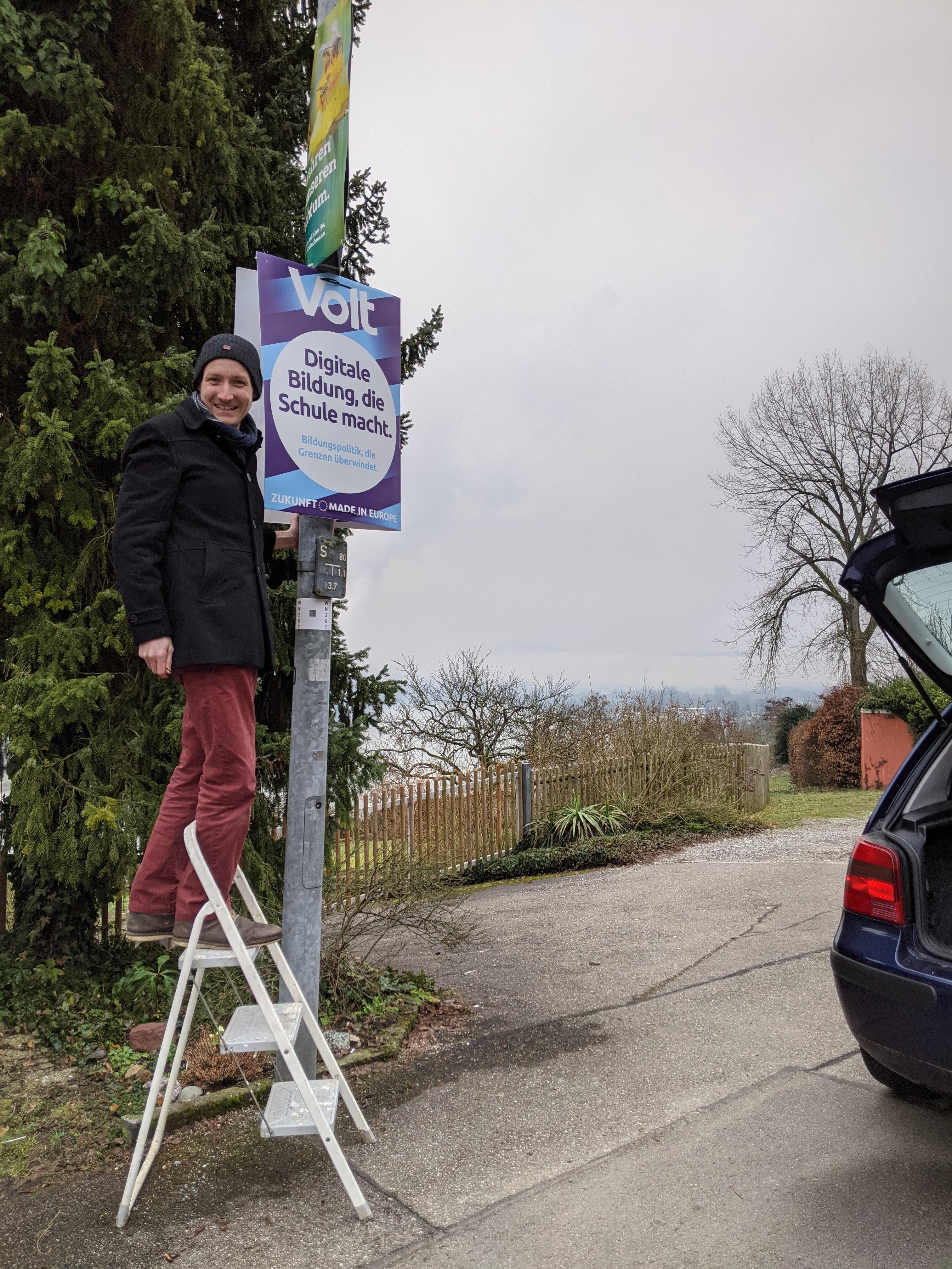 Volt Waldshut Plakataktion 2