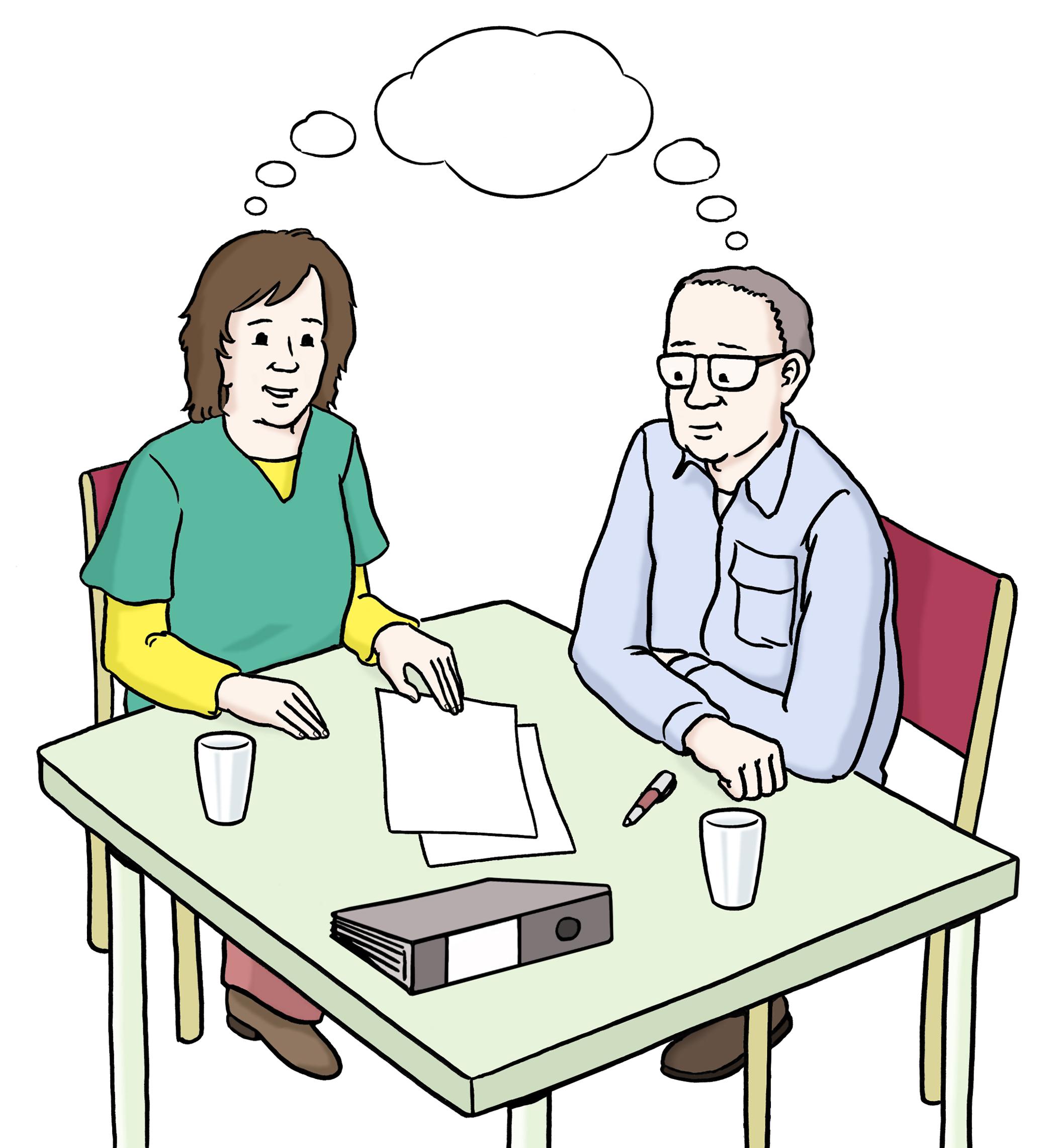 2 Menschen mit Ideen - denken - Leichte Sprache