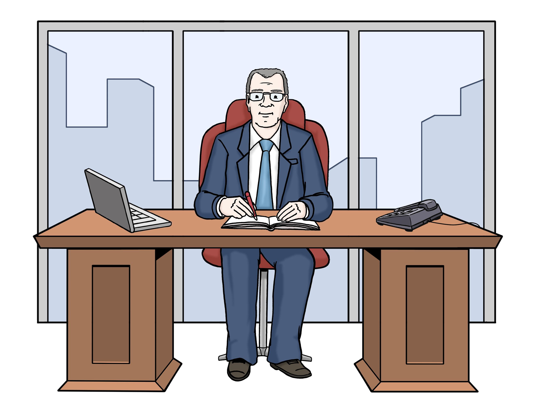 Chef - Boss  - Leichte Sprache
