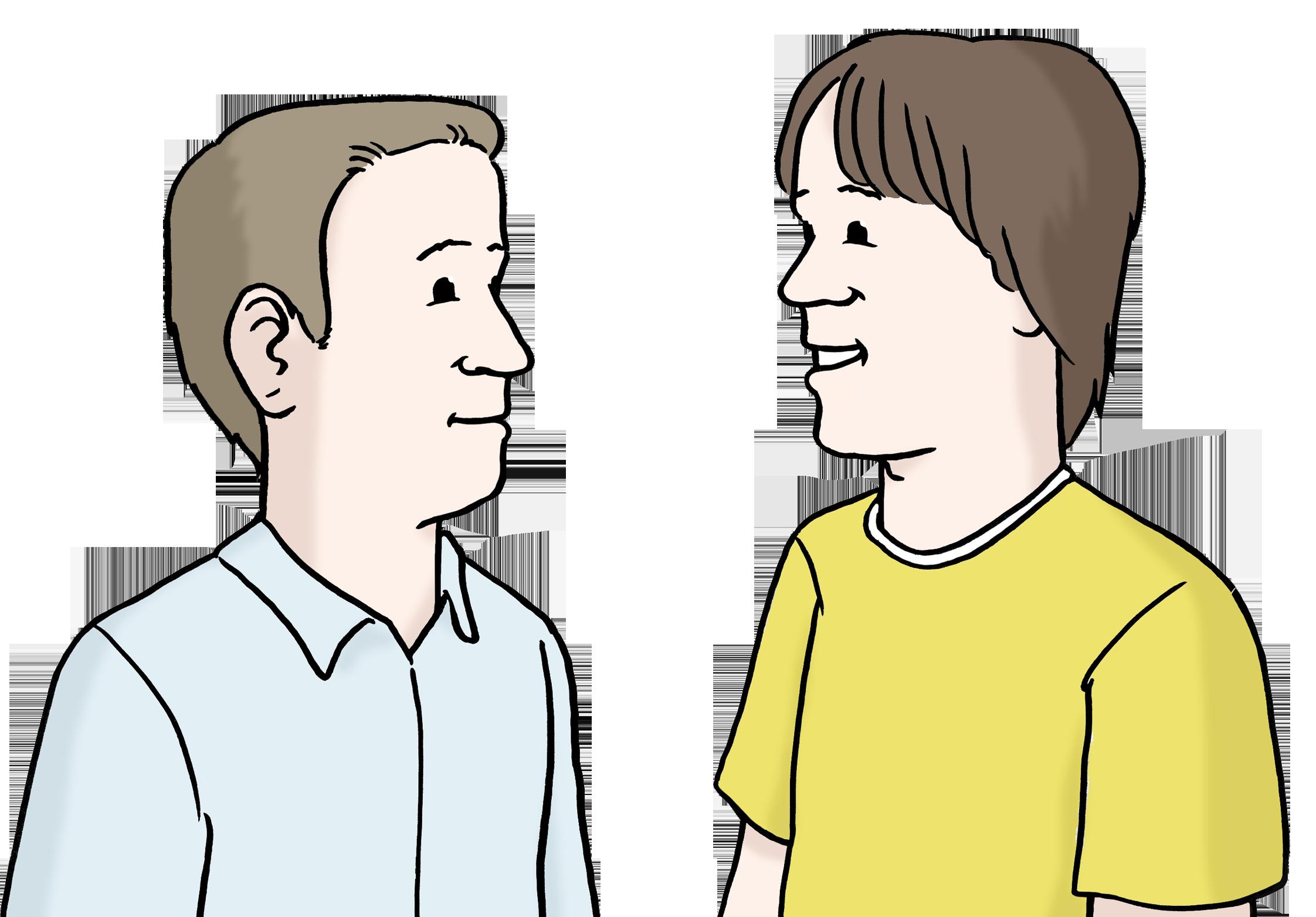Reden - Dialog - Dialogue - Leichte Sprache