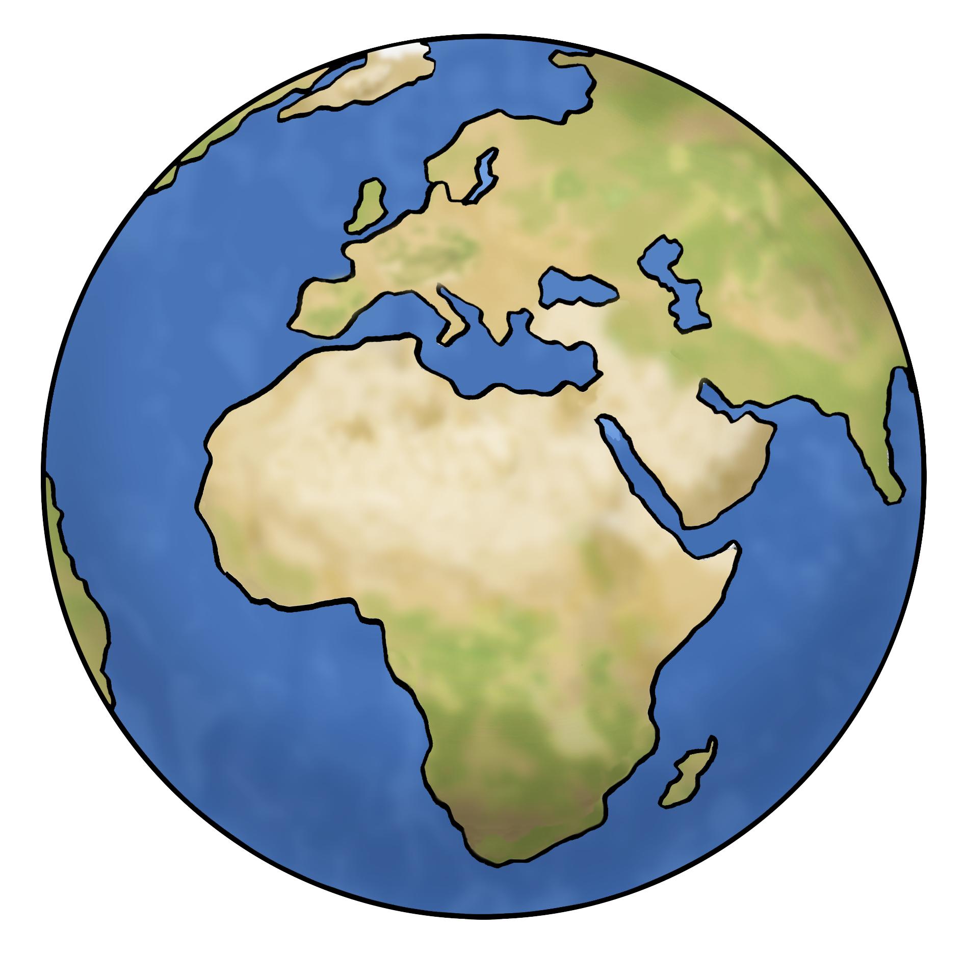 Weltkugel - World - Leichte Sprache