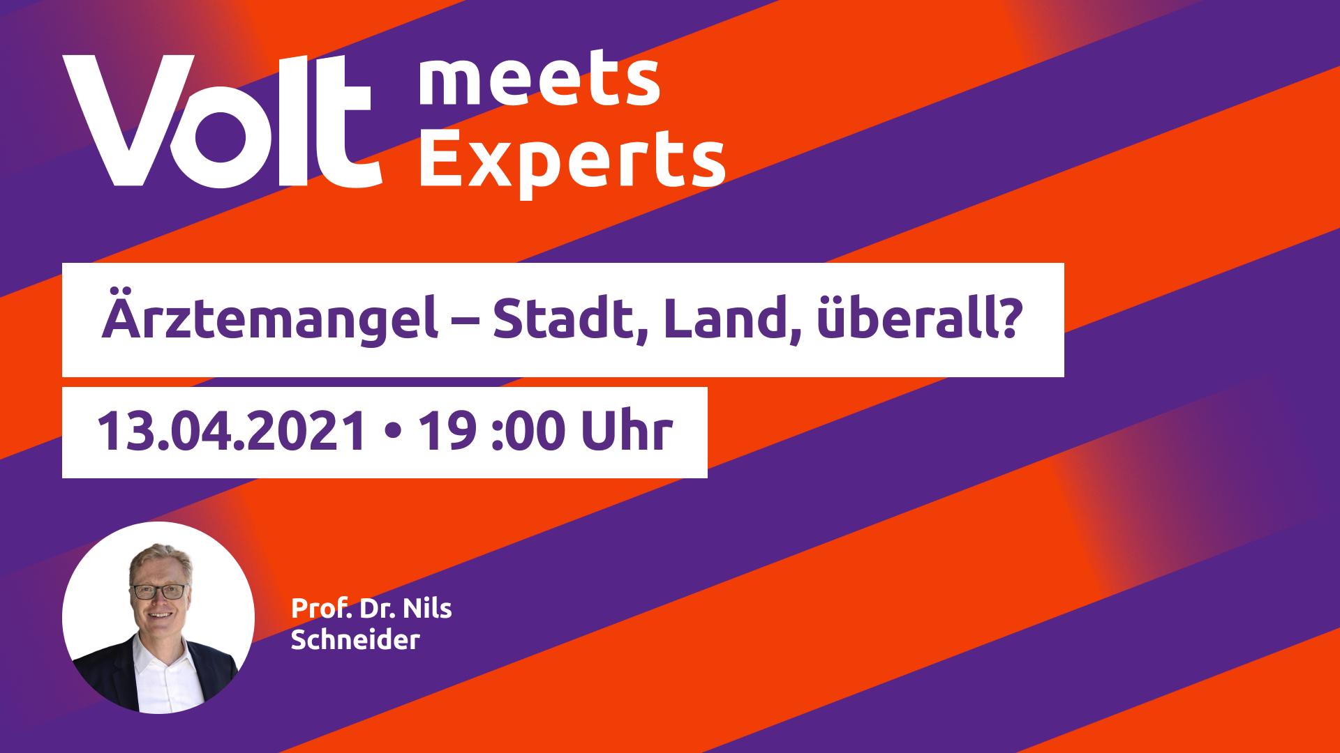 Volt meets Experts - Gesundheit - 13.04.2021