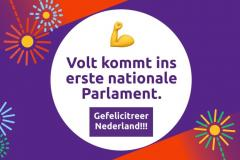 Wahlerfolg Volt Niederlande