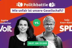Thumbnail zum Event mit Sophie Griesbacher (Volt) und Seija Knorr-Köning (SPD)