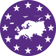 Europe with stars in a circle