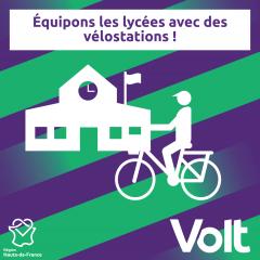 Parking vélo aux lycées