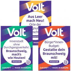 Übersicht Themenplakate Volt Braunschweig