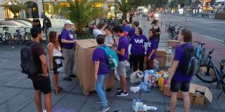 "Spendensammelaktion ""Send Hope to Moria"" in München"