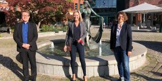 Die Münchner Vertretung mit der Oberbürgermeisterin