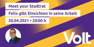 Einladungsbild Meet Your Stadtrat Volt München April