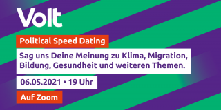 Political Speed Dating Mai 2021