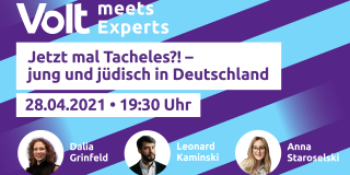 Volt meets Experts - Jung und jüdisch in Deutschland