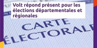 Volt France aux Régionales et aux Départementales