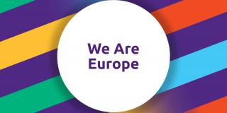 "Schriftzug ""We Are Europe"""