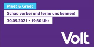 Meet & Greet Volt München 30.09.2021