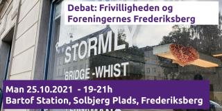 Debat frivilligheden Frederiksberg