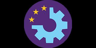 cog wheel with european stars