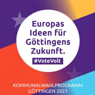Kommunalwahlprogramm 2021 Göttingen Titelbild