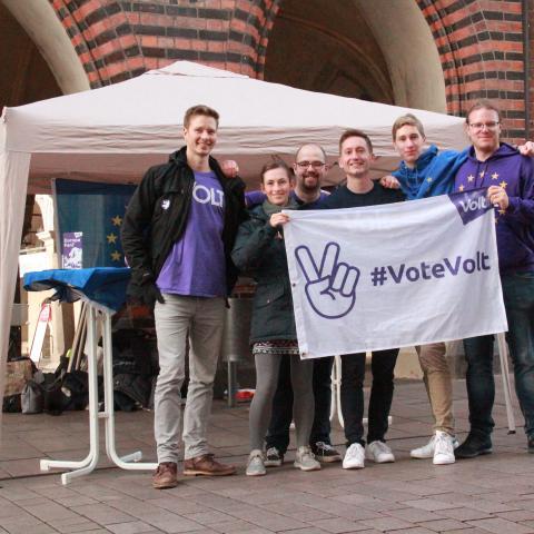 Volt Lübeck im Wahlkampf 2021