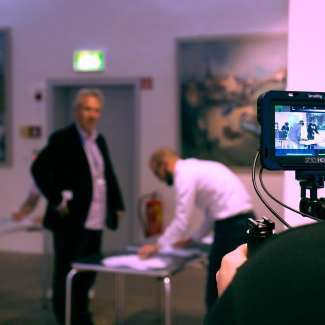 Aufzeichnung einer Veranstaltung von Volt München auf Video