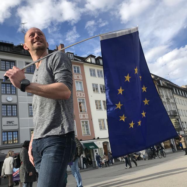 Volter mit Europafahne