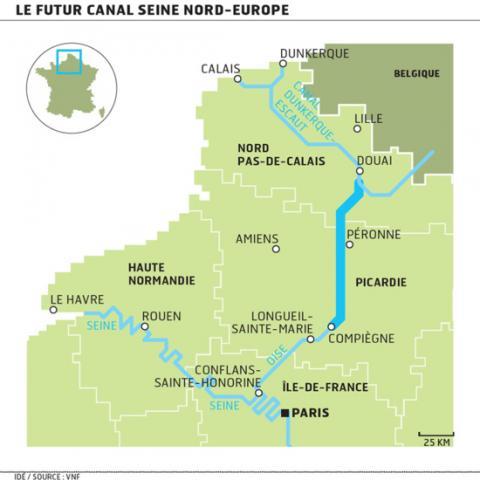 Trasse Canal Seine Nord Europe