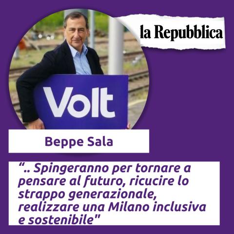 Beppe sala, milano, repubblica