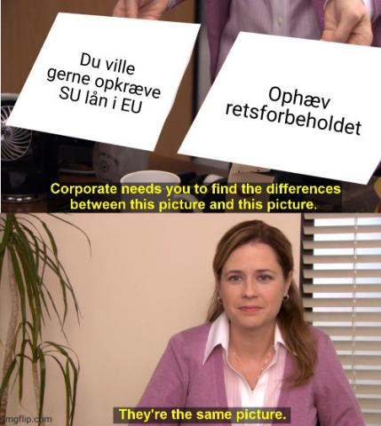 Meme - SU gæld - retsforbehold