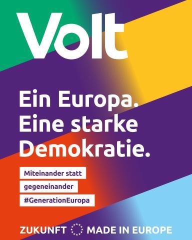 Volt. Ein Europa. Eine starke Demokratie.
