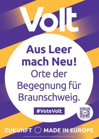 Volt Braunschweig Themenplakat Lebenswerte Stadt