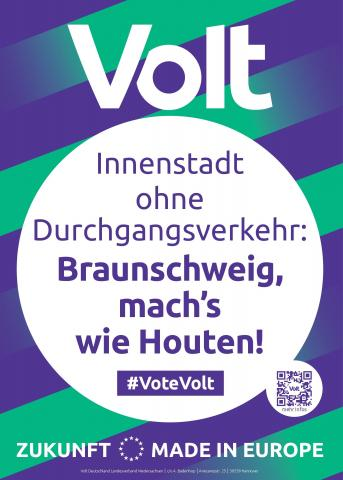 Volt Braunschweig Themenplakat Nachhaltige Mobilität