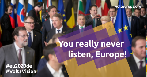You really never listen, Europe!