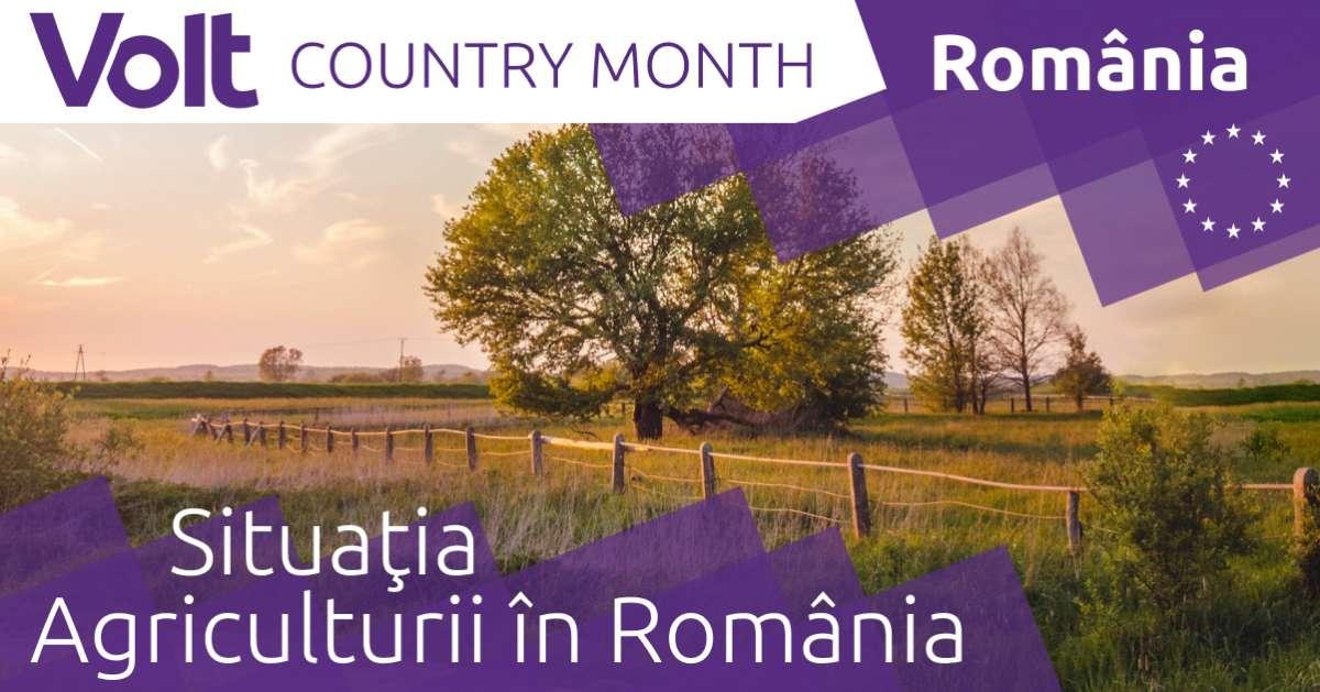 Situaţia Agriculturii în România