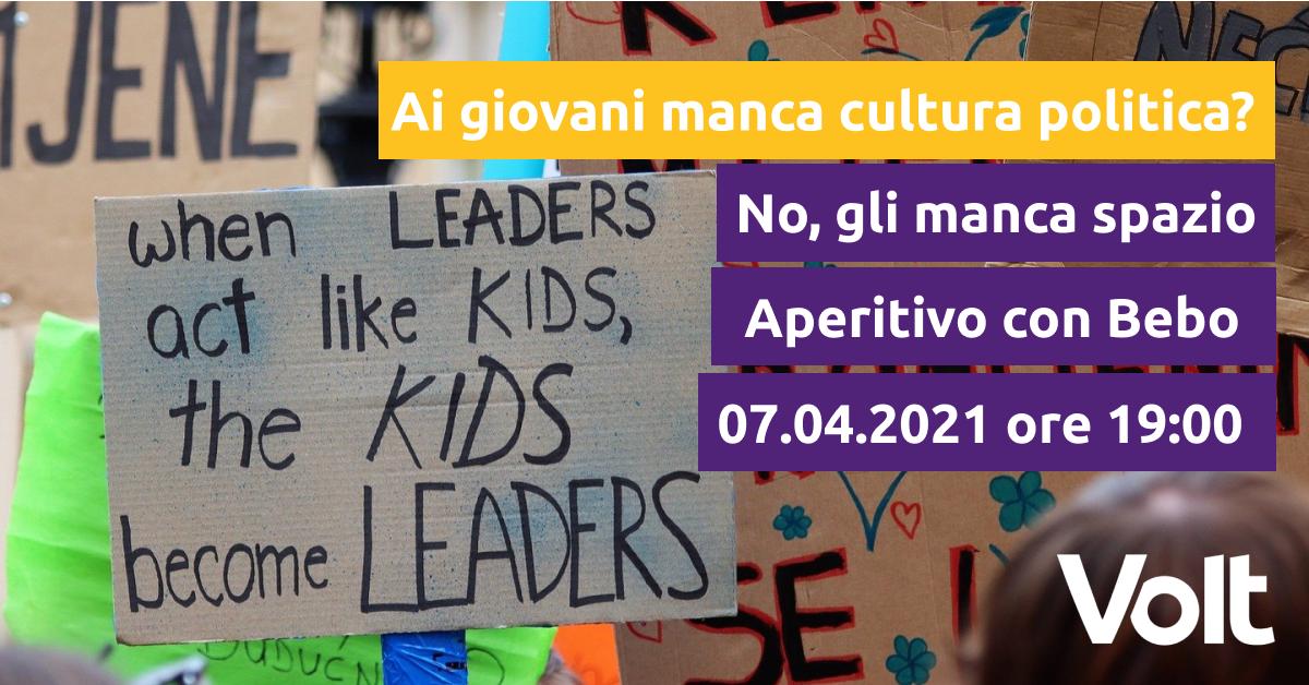 Locandina Giovani Volt Bologna