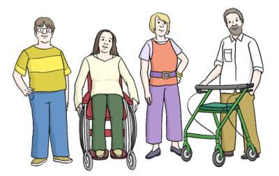 Leichte Sprache - Menschen mit Behinderung