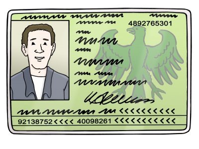 Ausweis - Identity card - Leichte Sprache