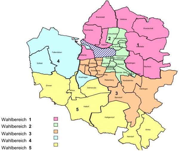 Wolfsburg Wahlbereiche 2021
