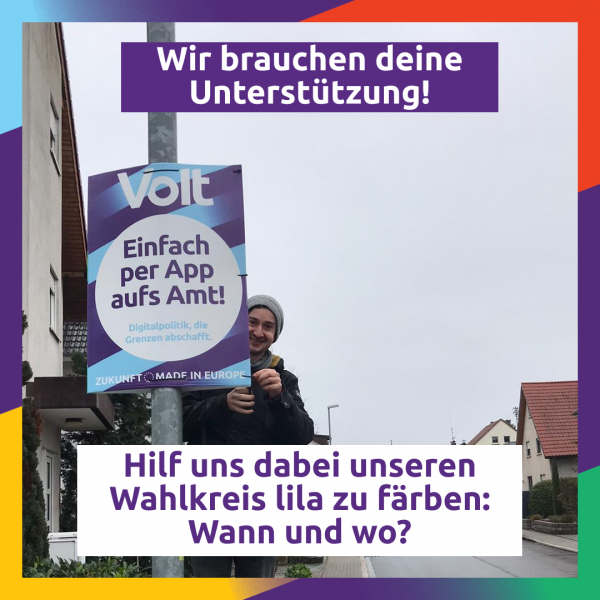 Plakatieren in BW für die Bundestagswahl