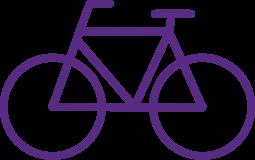 Piktogramm eines Fahrrads