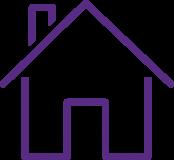 Piktogramm eines Hauses